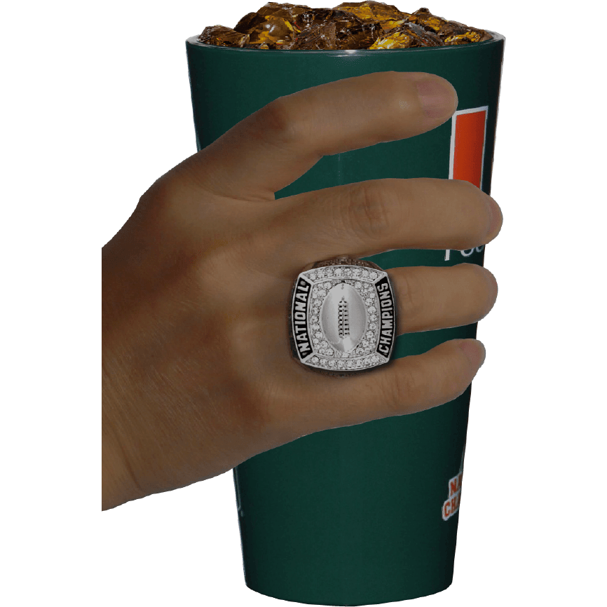 Load image into Gallery viewer, THE UNIVERSITY OF MIAMI CHAMPIONSHIP CUP BY BLINGWEAR
