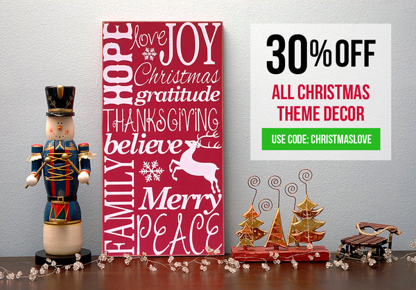 30% Off on ALL Christmas Theme Decor