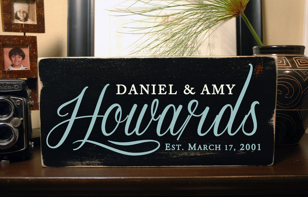 Personalized Family Established Sign, Rustic Family Signs, Hand Painted