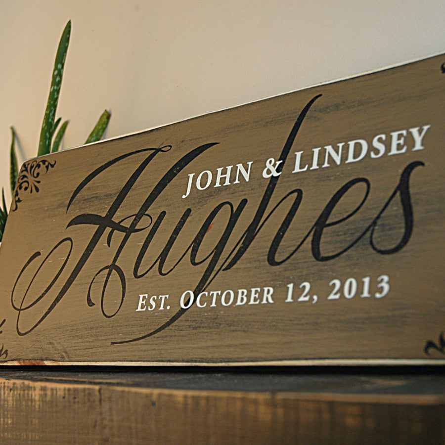Custom family sign for home