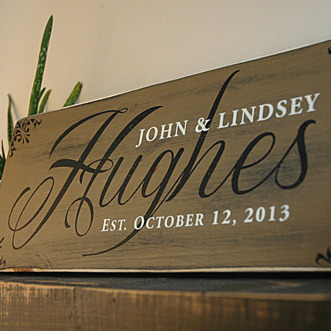 New Personalized Family Name Signs, Rustic Wood Signs, Signs with  TZ58