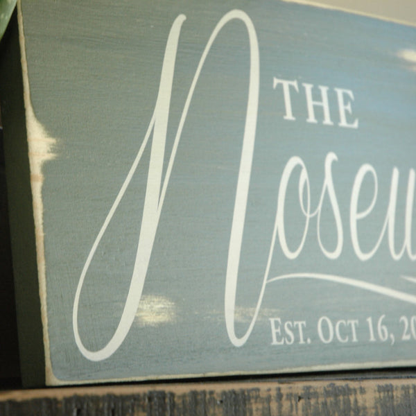 Hand Painted Rustic Sign