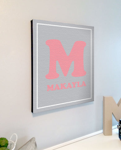 Personalized Kids Room Nursery Alphabet Canvas Wall Art