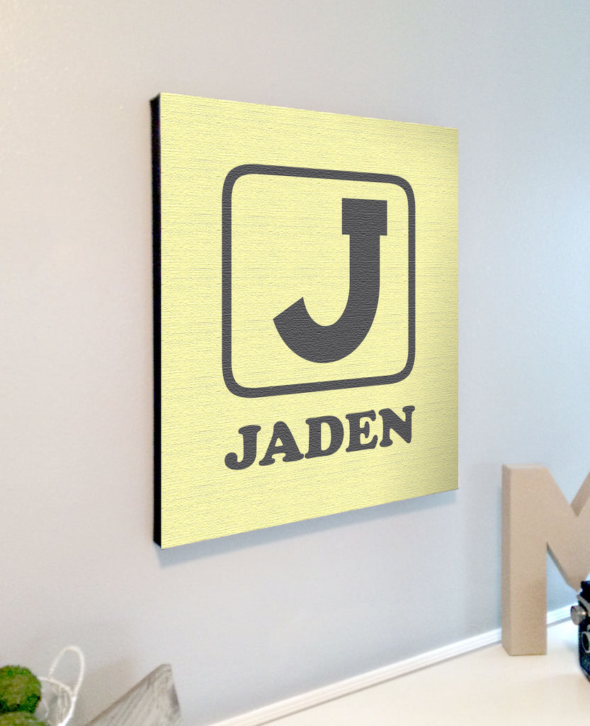 Personalized Kids Room Baby Block Alphabet Canvas Wall Art – Rustica ...