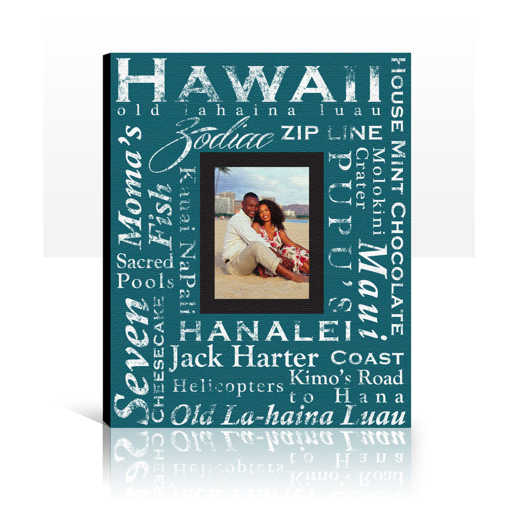 Custom Photo Canvas Art, Personalized, Custom Made, Words on Canvas, Honeymoon, Wedding Gift, 16x20