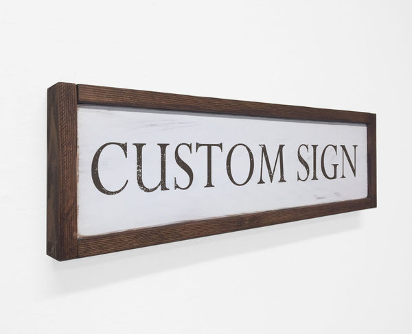 Custom Made Framed Wood Sign, Wall Art