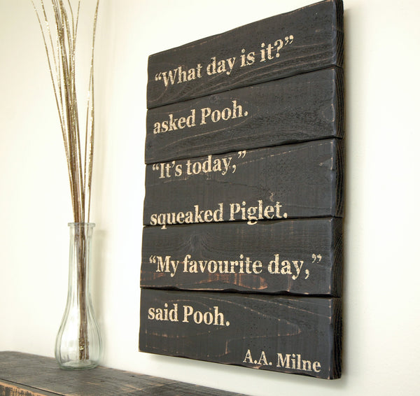 custom quote wood plank sign