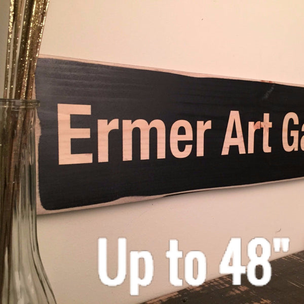 "Custom Wood Sign, Your Own Message, Up to 48"" Long"