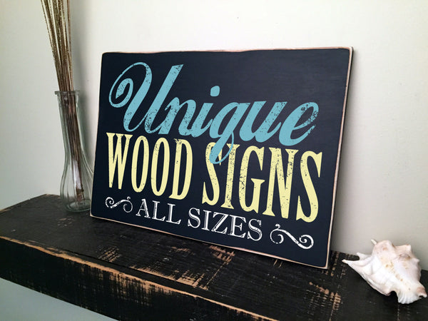 "Custom Made Signs for Quotes Sayings Scriptures or Any Message, 24"" inch Plank, Up to 24"" Long"