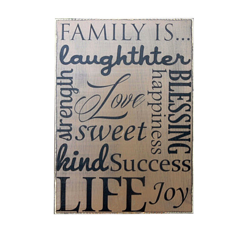 Family Is Laughter, Home Decor Sign, Wood, Wall Art, 11x16