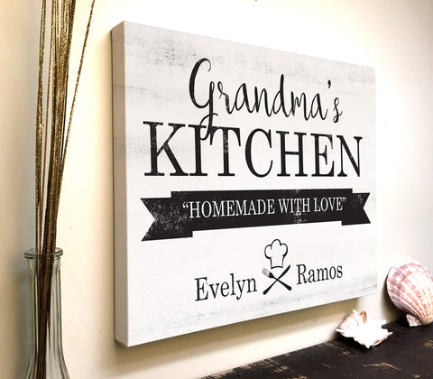 Grandmas Kitchen Personalized Kitchen Canvas Art