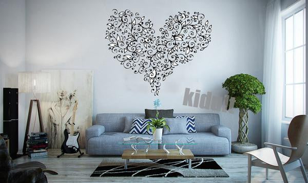 Creative Heart Shaped Home Wall Decal