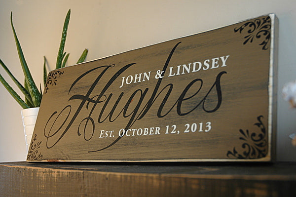 customized family sign