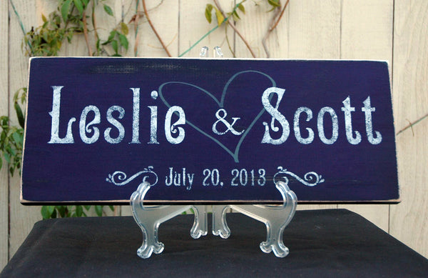 Rustic Family Established Sign Family Name Sign Wedding Gift Last Name Established in Rustic Purple Finish, 18x7