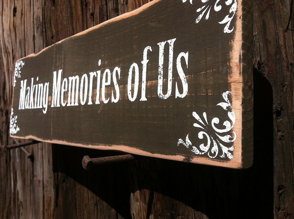 Making Memories of Us Wood Sign, Family Home Decor Signs, Signs for the Home, Positive Thinking Signs