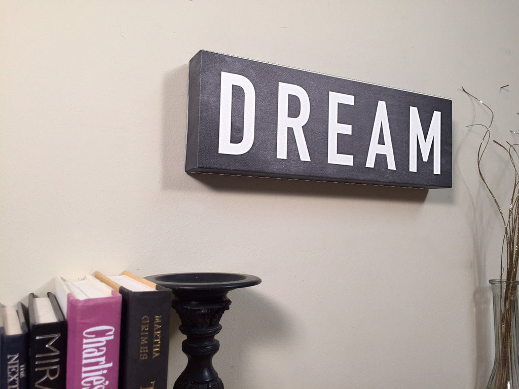 DREAM Wall Art Canvas Decor Home Dream Print