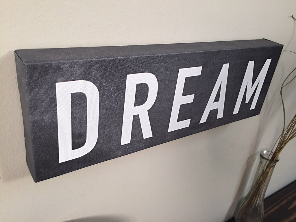 DREAM Wall Art Canvas, Wall Decor, Home Decor, Canvas Art, Dream Print