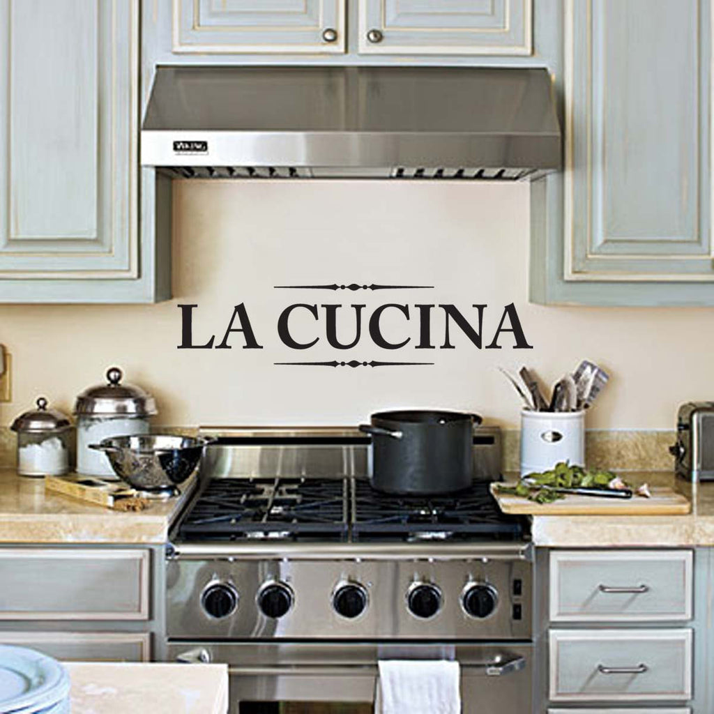 la cucina wall decal, kitchen wall decor wall art wall sticker for