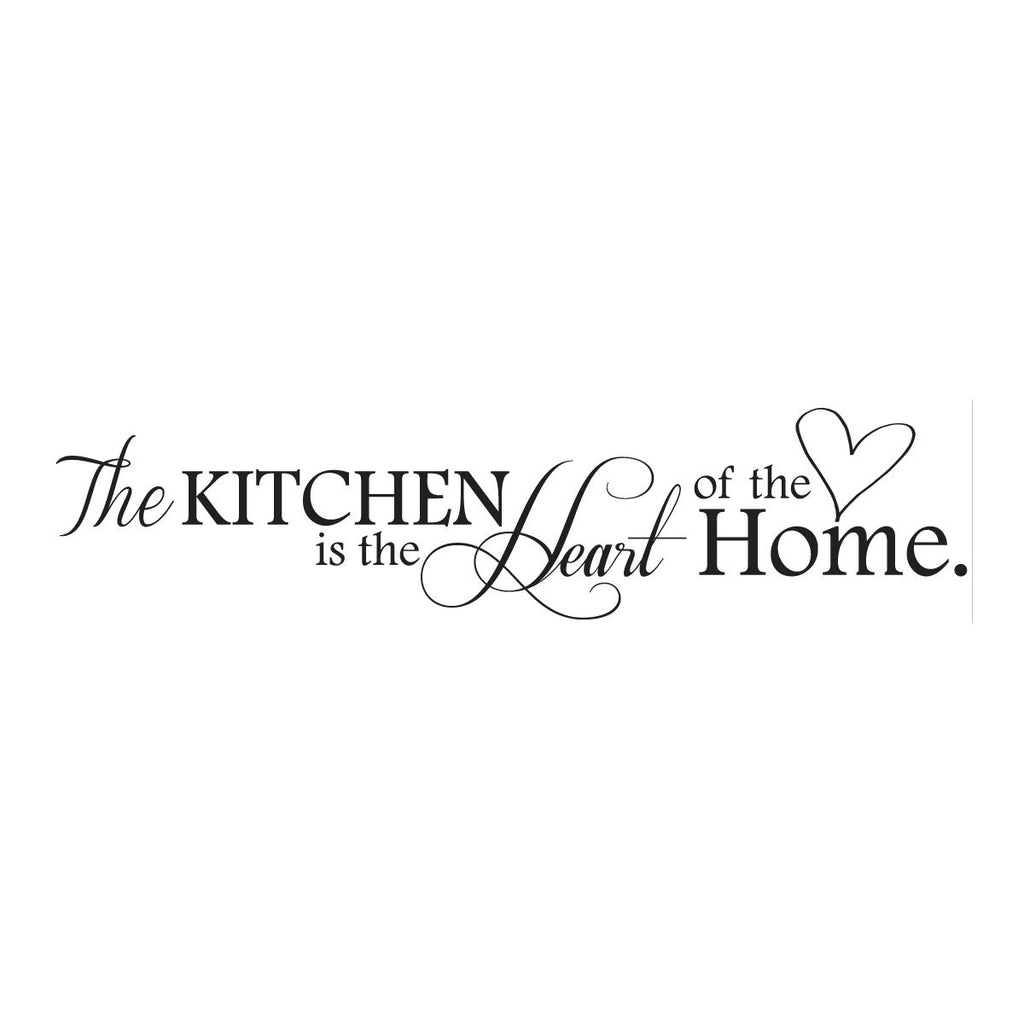 The Kitchen is the Heart of the Home Wall Decal, Kitchen Wall