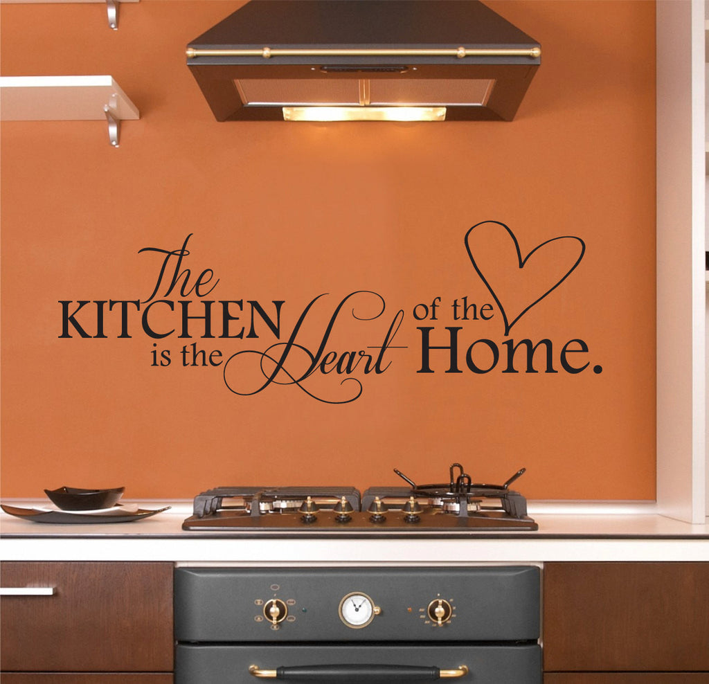 The Kitchen Is The Heart Of The Home Wall Decal Kitchen Wall Decor Wall Art Wall Sticker For The Kitchen 40x10