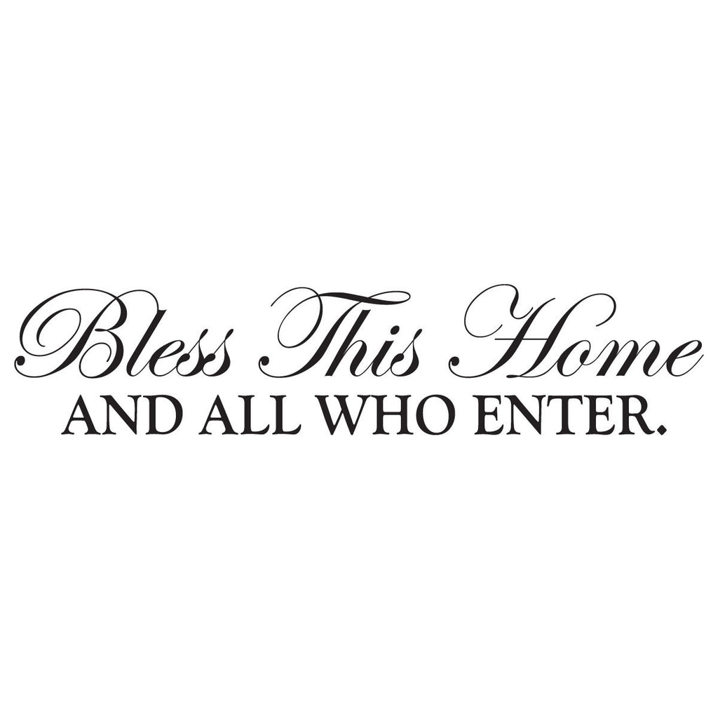 ... Bless This Home and All Who Enter Wall Decal Home Wall Decor Wall Art Wall  sc 1 st  Rustica Home Décor by Jetmak Studios & Bless This Home and All Who Enter Wall Decal Home Wall Decor Wall ...