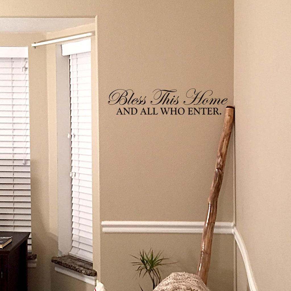 Bless this home and all who enter wall decal home wall decor wall bless this home and all who enter wall decal home wall decor wall art wall amipublicfo Gallery