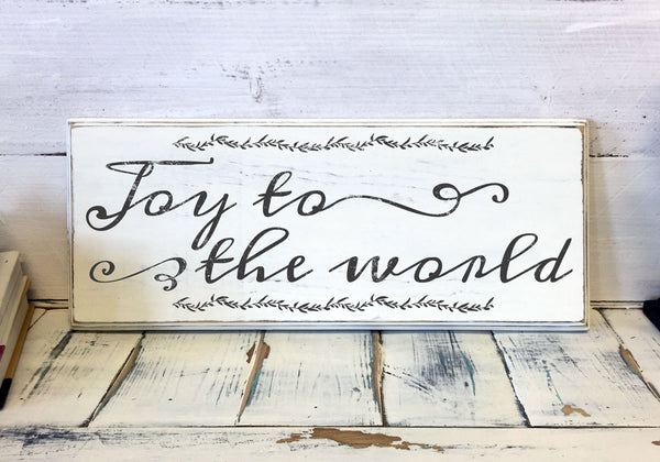 Christmas Home Decor, Joy to the world, Wood Sign, Vintage, Shabby Chic Christmas Decor, Decorations, Holidays Decor