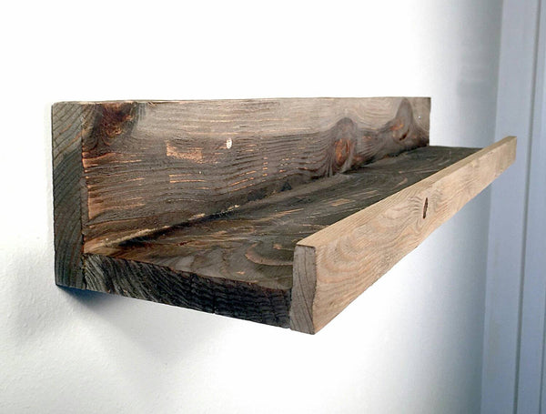 Picture Ledge in Your Choice of Color - Hand Distressed Barn Wood Style