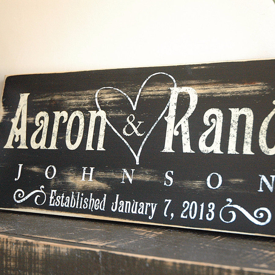 Top Custom Wood Family Established Sign in Rustic Finish – Rustica  FC07