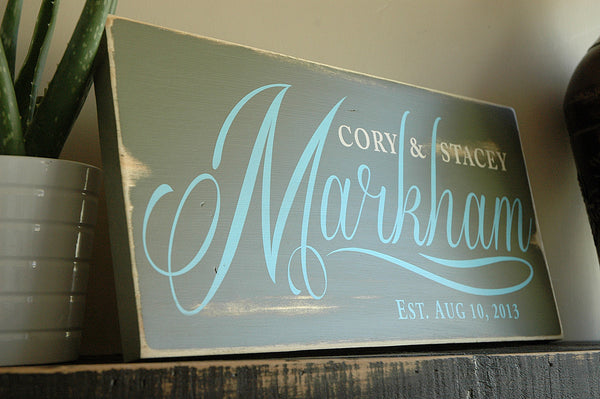 Rustic family signs