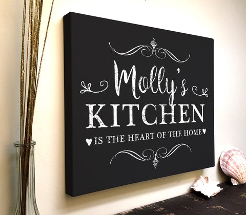 Personalized Kitchen Canvas Art: The Heart of The Home