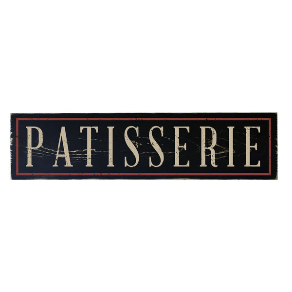 Kitchen Decor Sign: Vintage Patisserie Wood Sign, 29x7