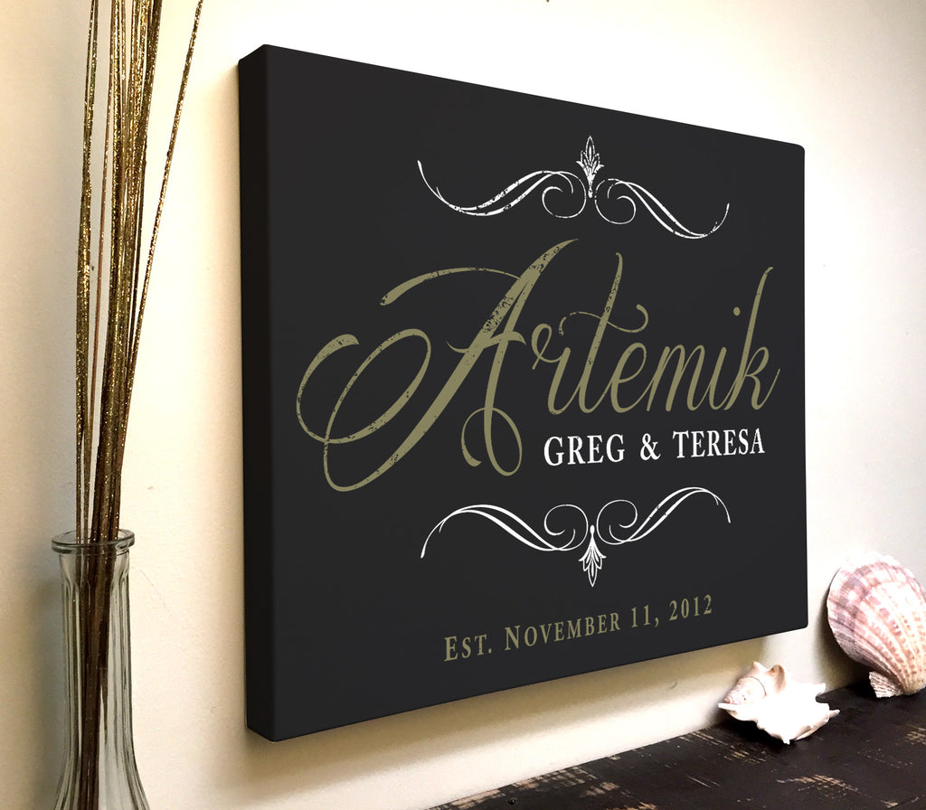 Custom Printed Family Name Canvas Art