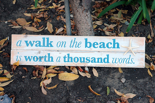 rustic beach wall sign