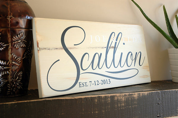 rustic handmade sign