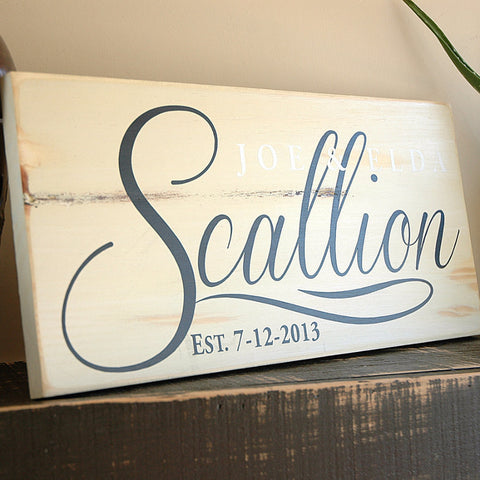 distressed wood signs
