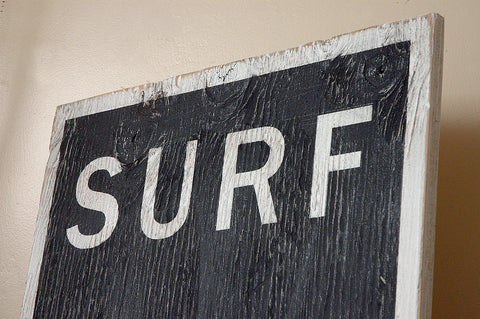 surf beach sign