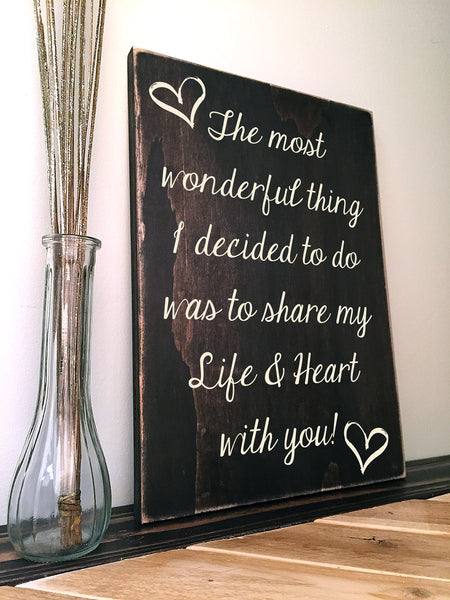 love family quote on wood