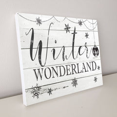 Winter Wonderland, Shiplap Canvas Art, 16x20