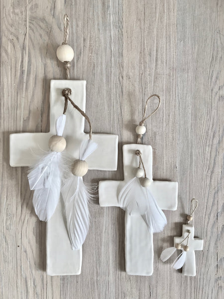 Cross and Feather Hangers