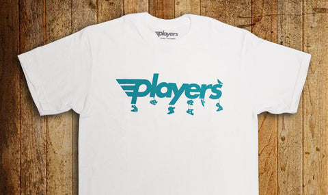 Players Sneaker Toss Tee White