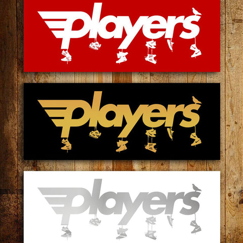 Players Sneaker Toss Slap Stickers