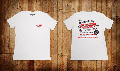 Players Attorneys Tee White