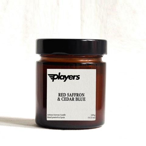 Players Artisan Candle - Red Saffron & Cedar Blue