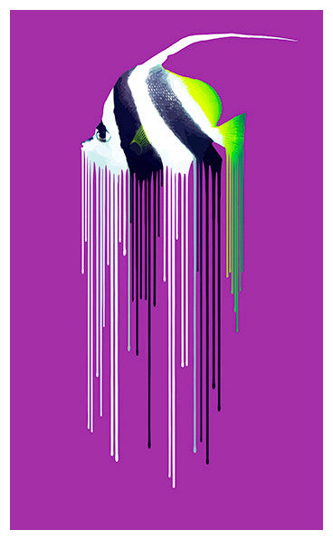 Carl Moore Bannerfish Purple Print