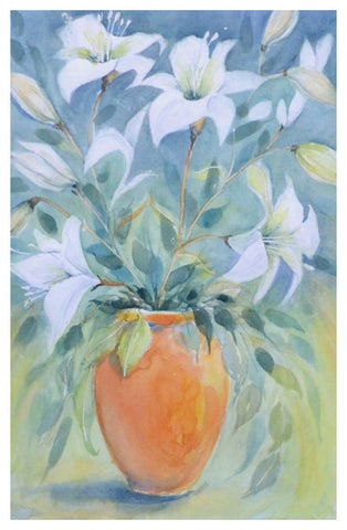 White Lilies by Michele Floyd