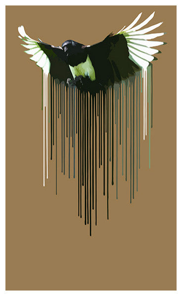 Carl Moore Magpie Brown Print