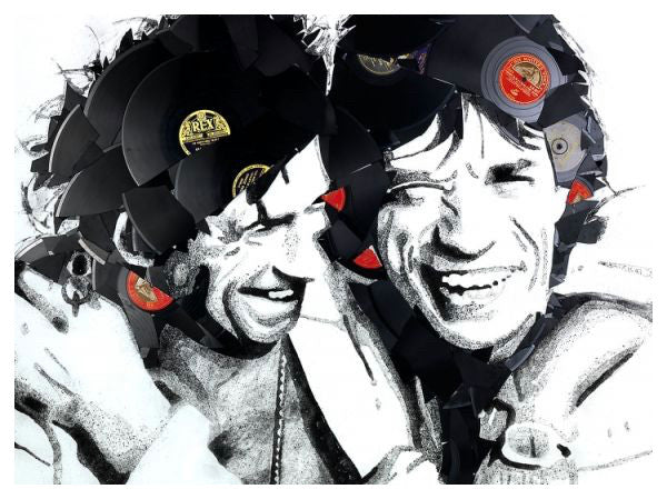 Mick and Keith by Ben Riley Print