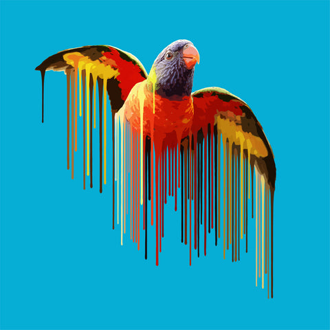 Parrot - Sky Blue by Carl Moore