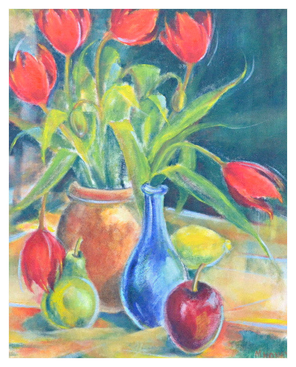 Tulips and Apple by Michele Honey Floyd